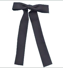 Tie - T-124B - Kentucky Clip-on Tie Black, Made in the USA - EN STOCK