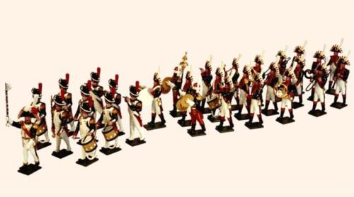 Tradition of London - 089 - The Band 30 figures of the Imperial Guard Grenadiers 1810 (Drum Major Senot, the Fifes and Drums and Musicians of the Imperial Guard Band) - EN STOCK