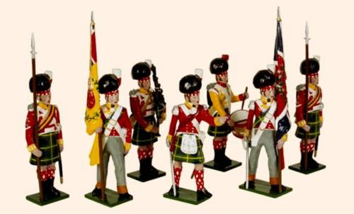 Tradition of London - 737 - 92nd Gordon Highlanders Painted (An Officer, the Kings Colour the Regimental Colour two Colour Sergeants a Piper and a Drummer, 1815) - disponible sur commande