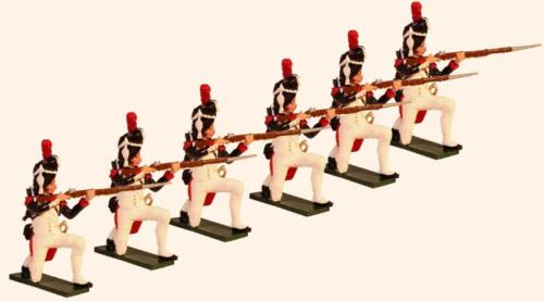 Tradition of London - 773 - French Grenadiers of the Guard Kneeling Firing Painted - EN STOCK