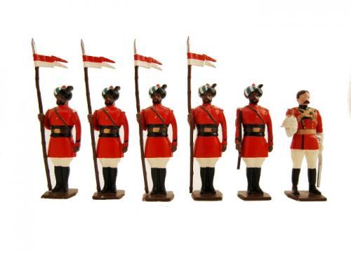 Tradition of London - Set N° 047 - 4th Regiment of Bengal Lancers 1900 - Set épuisé mais 1 dernier exemplaire EN STOCK