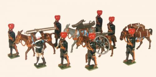 Tradition of London - set N° 065 - Indian Mountain Artillery Battery 1900, Painted - EN STOCK