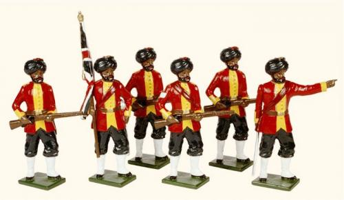 Tradition of London - set N° 069 - 7th Bengal Native Infantry 1890 Painted - EN STOCK