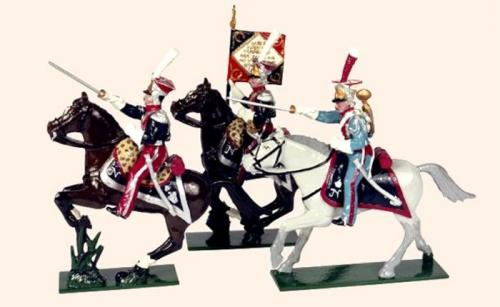Tradition of London - set N° 701 - Polish Lancers, Officer, Eagle Bearer and Trumpeter of the Imperial Guard, Painted - EN STOCK