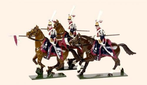 Tradition of London - set N° 702 - Three Polish Lancers, of the Imperial Guard, Painted - EN STOCK