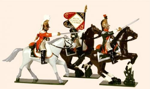 Tradition of London - set N° 711 - French Line Dragoons, Officer, Eagle Bearer and Trumpeter, 1812, Painted - EN STOCK