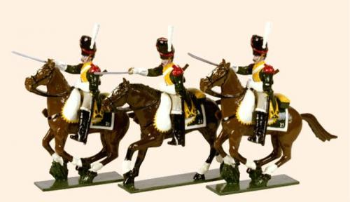 Tradition of London - set N° 714 - French Line Dragoons Elite Company 1812, Painted - EN STOCK