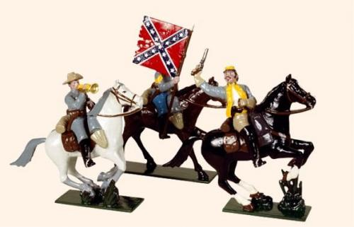 Tradition of London - set N° 916 - Confederate Cavalry (An Officer, Colour Bearer and Bugler) - EN STOCK
