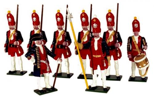 Tradition of London - set N° PG1 - Potsdam Giant Grenadiers, Painted - EN STOCK