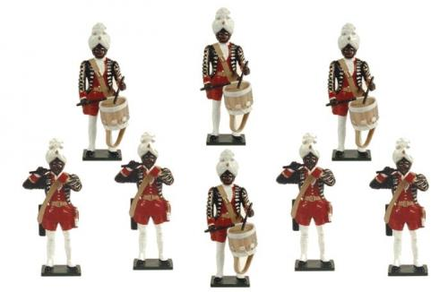 Tradition of London - set N° PG3 - The Fifes and Drums Potsdam Giant Grenadiers, Painted - EN STOCK