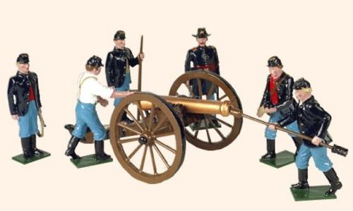 Tradition of London - set N) 078 Union Artillery (An Officer, five Gunners and a 12 Pounder Gun) - EN STOCK