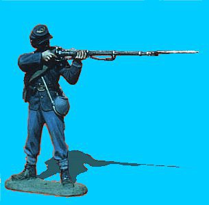 U03 - Standing - Firing 54mm Union infantry (unpainted kit) - EN STOCK