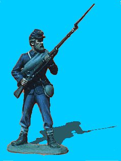 U04 - Standing - Rifle at ready. 54mm Union infantry (unpainted kit) - EN STOCK