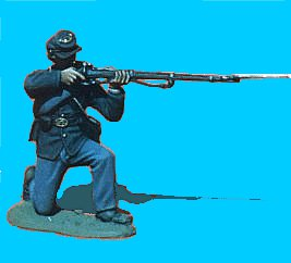 U05 - Kneeling - Firing 54mm Union infantry (unpainted kit) - EN STOCK