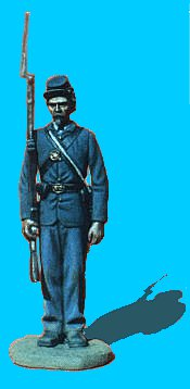 U07 - Attention - Shoulder arms. 54mm Union infantry (unpainted kit) - EN STOCK