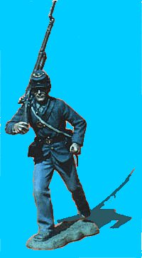 U09 - Running - Rifle over shoulder. 54mm Union infantry (unpainted kit) - EN STOCK
