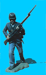 U10 - Running - Rifle at ready. 54mm Union infantry (unpainted kit) - EN STOCK