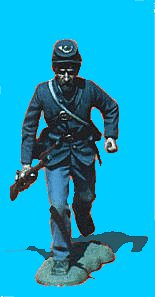 U11 - Running - Rifle at trail. 54mm Union infantry (unpainted kit) - EN STOCK