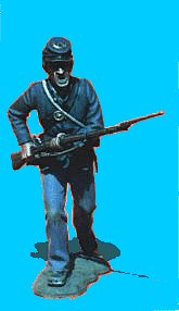 U12 - Running - Rifle levelled. 54mm Union infantry (unpainted kit) - EN STOCK