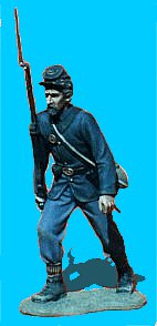 U15 - Advancing - Shoulder arms. 54mm Union infantry (unpainted kit) - EN STOCK