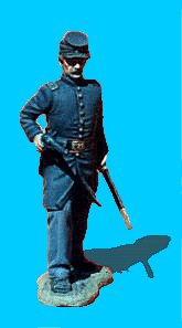 U18 - Officer Advancing - Pistol drawn. 54mm Union infantry (unpainted kit) - EN STOCK