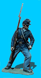 U24 - Attacking - Shoulder arms. 54mm Union infantry (unpainted kit) - EN STOCK