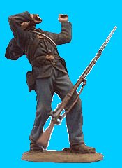 U25 - Falling backward - Wounded. 54mm Union infantry (unpainted kit) - EN STOCK