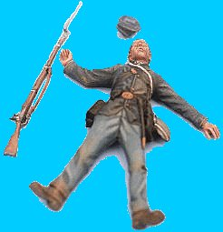 U27 - Dead. 54mm Union infantry (unpainted kit) - EN STOCK