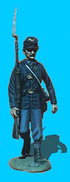 U02 - Walking with Shoulder Arms. 54mm Union infantry (unpainted kit) - EN STOCK