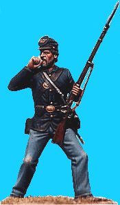 U36 - Union infantry biting cartridge. 54mm Union infantry (unpainted kit) - EN STOCK
