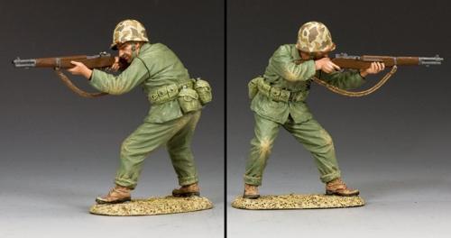 USMC014 - Marine Firing his Garand