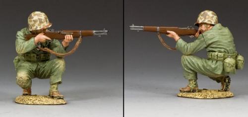 USMC020 - Crouching Marine Firing Rifle