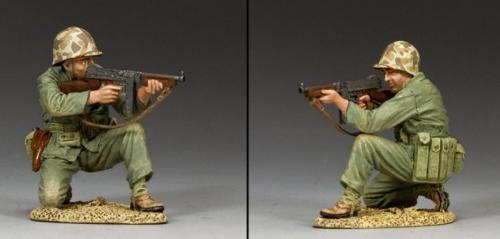 USMC022 - Kneeling US Marine Tommy Gunner