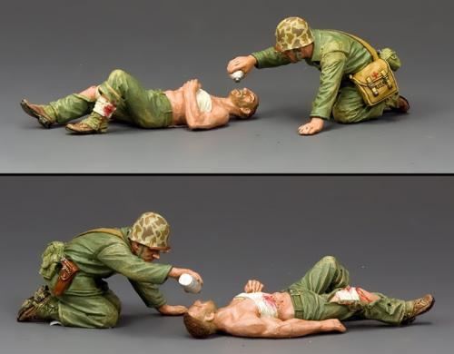 USMC044 - Navy Corpsman and Wounded Marine
