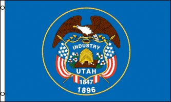 Utah Flag - Drapeau de l'état américain de l'UTAH - EN STOCK