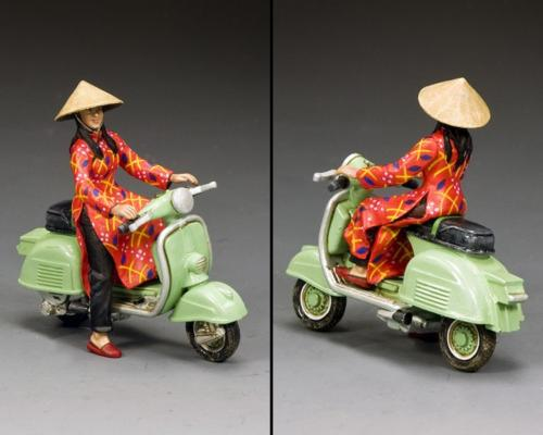 VN083 - The Pale Green Vespa Girl