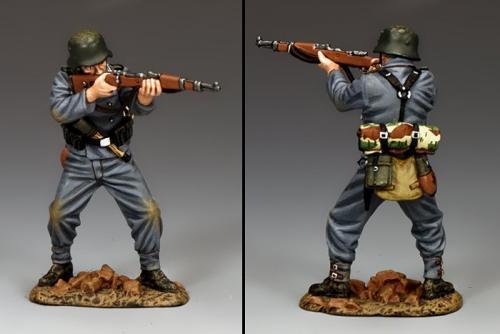 WH080 - German Standing Firing Panzer Grenadie