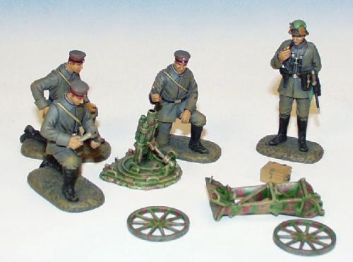 WMG.1 - 76 mm Trench Mortar, 4 German crew loading