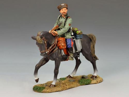 WS146 - Mounted Cossack Holding Rifle (Looking Left)
