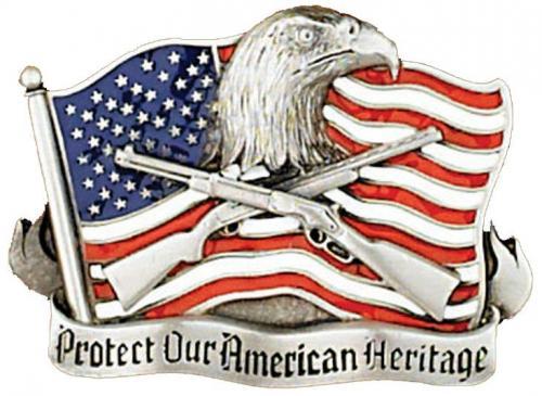 Boucle de ceinture - Belt Buckle G-4027 Protect our American Heritage