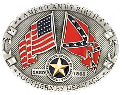 Boucle de ceinture - Buckle NJ-34 American by Birth Southern By Heritage