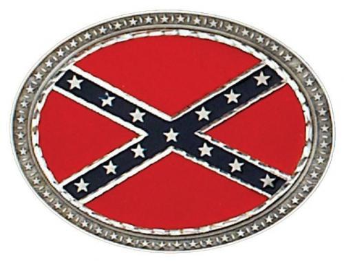 Boucle de ceinture - Buckle NJ-55 Confederate Flag Oval