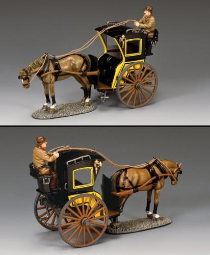 WoD058-1 - Hansom Cab (Yellow)
