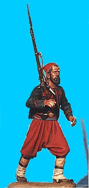 Z01 - 5th NY Charging - Rifle on shoulder. 54mm Union zouaves (unpainted kit) - EN STOCK