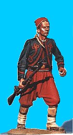 Z04 - 5th NY Charging - Rifle at trail. 54mm Union zouaves (unpainted kit) - EN STOCK