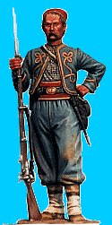 Z06 - 146th NY Standing relaxed (wearing fez). 54mm Union zouaves (unpainted kit) - EN STOCK