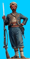 Z07 - 146th NY Standing relaxed (wearing turban). 54mm Union zouaves (unpainted kit) - EN STOCK