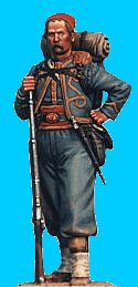 Z09 - 146th NY zouave knapsack, moustache. 54mm Union zouaves (unpainted kit) - PAS DE STOCK