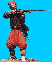 Z10 - 5th NY zouave firing. 54mm Union zouaves (unpainted kit) - EN STOCK