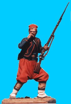 Z12 - 5th NY zouave biting cartridge. 54mm Union zouaves (unpainted kit) - EN STOCK